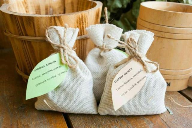 Травяные запарки в мешочках для бани и сауны купить оптом